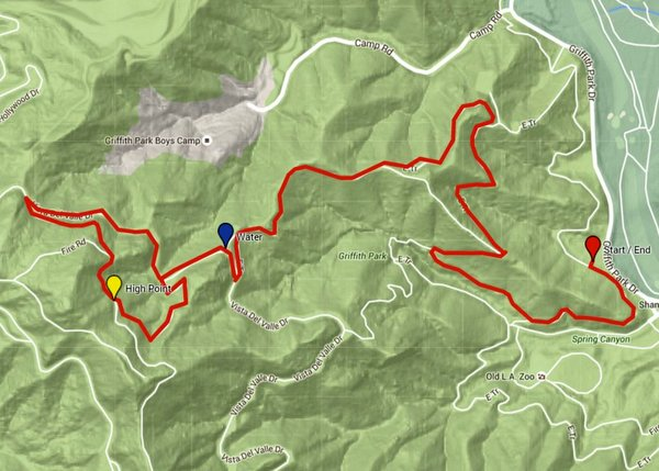 Trek 4 map: Bill Eckert Trail