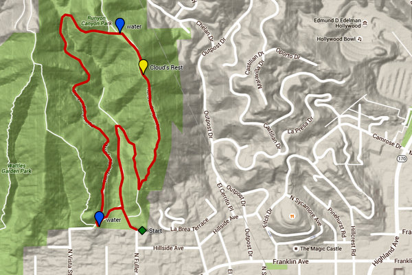 Trek 5 map: Runyon Canyon